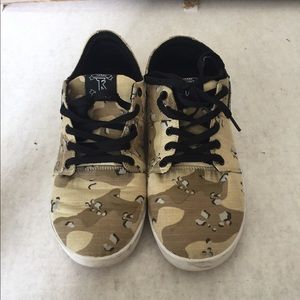 Supra TK Stacks Desert Camo Canvas Skate Shoes10.5